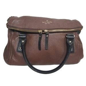 Kate Spade Chocolate Brown Pebbled Leather Satchel